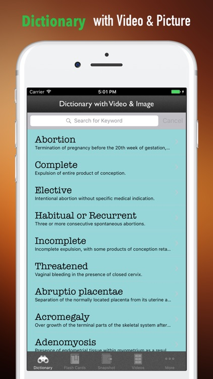 Obstetrics Glossary-Study Guide and Terminology screenshot-3