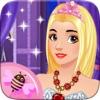 公主 造型师 女孩 打扮 和 化妆 沙龙