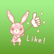 Lydia The Cute Flower Bunny English Stickers