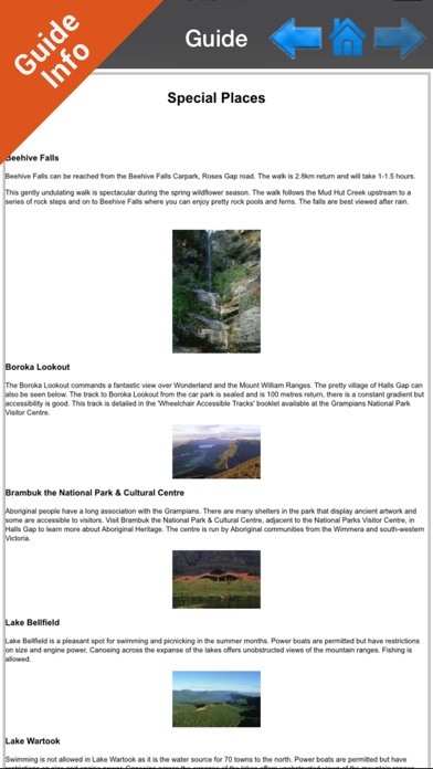 Grampians NP GPS and outdoor charts with guide screenshot two