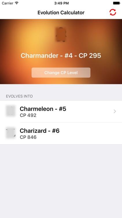 Evolution Calculator - CP & XP - for Pokemon GO!