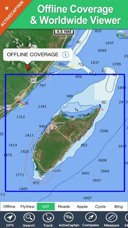 Cozumel Island charts GPS offline map Navigator screenshot-4