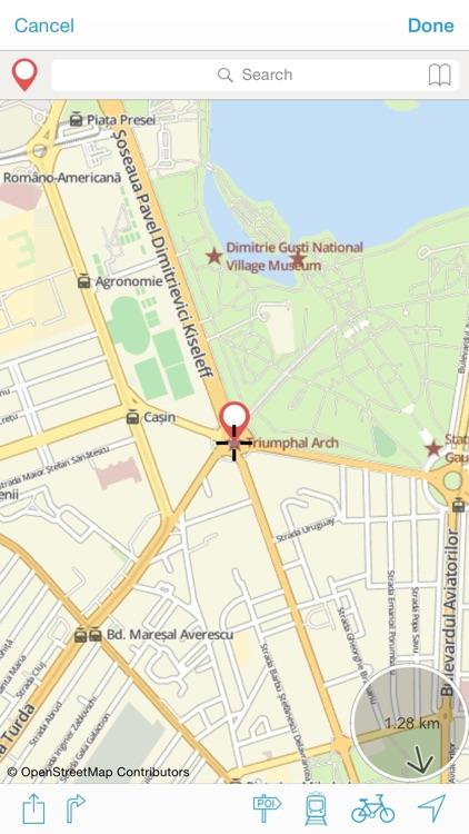 Bucarest on foot : Offline Map screenshot-3