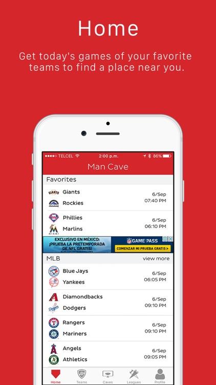 Man Cave - Sports Fans Social Network