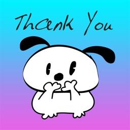 Cute Puppy Word Art Emoji - Cool Emoticon Stickers