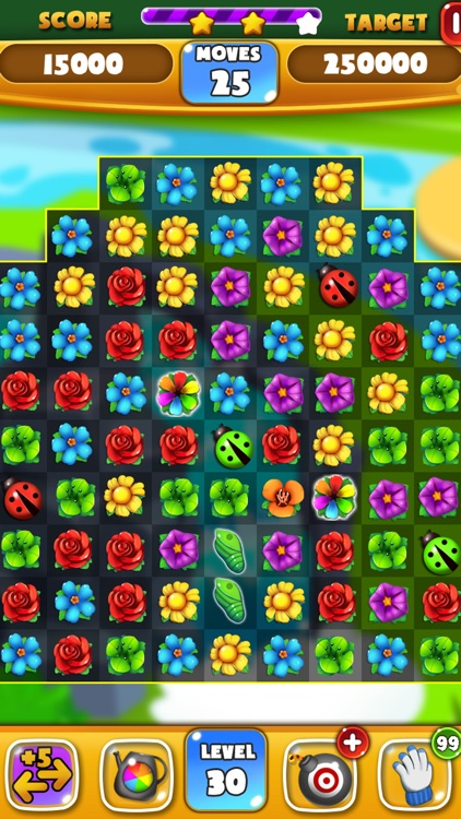 Flower Crush - Match 3 & Blast Garden to Bloom!