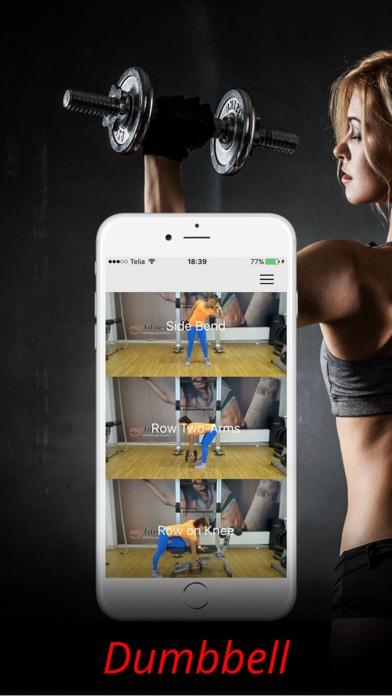 Kurzhantel Übungen & Körpermuskel TrainingScreenshot von 1