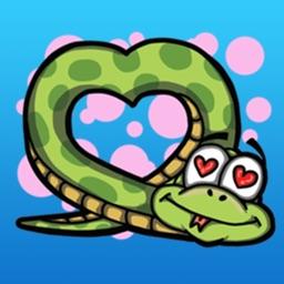 Lovely Snake Sticker Pack