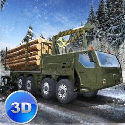 Winter Logging Truck Simulator 3D