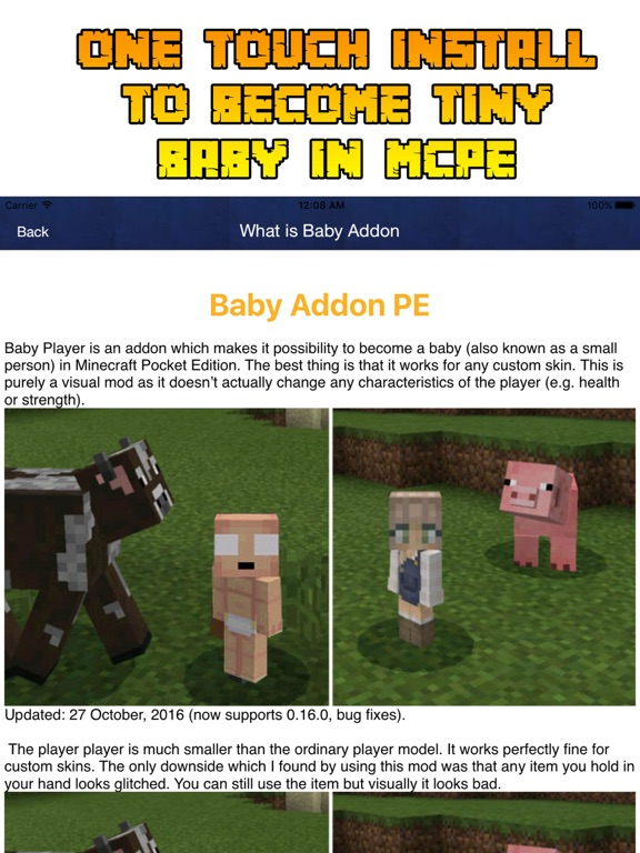 Screenshot #1 for Baby Roleplay Addon For Minecraft PE