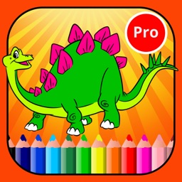 Dinosaur Coloring Page For Kid : Educational Game