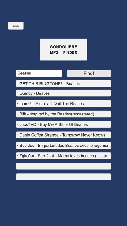 Gondoliere - mp3 finder screenshot-3
