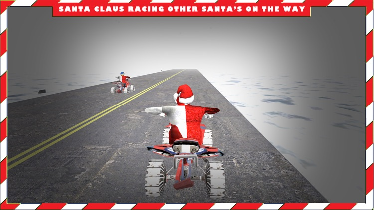 Santa Claus in North Pole on Quad bike Simulator screenshot-3