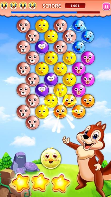 Bubble Shooter Squirrel Bird Deluxe-Pop Match 3