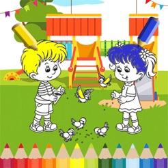 çocuklar Için Boy Ve Kız çocuk Parkı Boyama Oyunla App Storeda