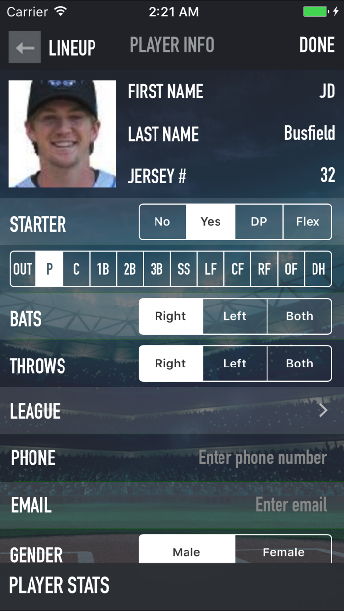 iScore Baseball and Softball Screenshot