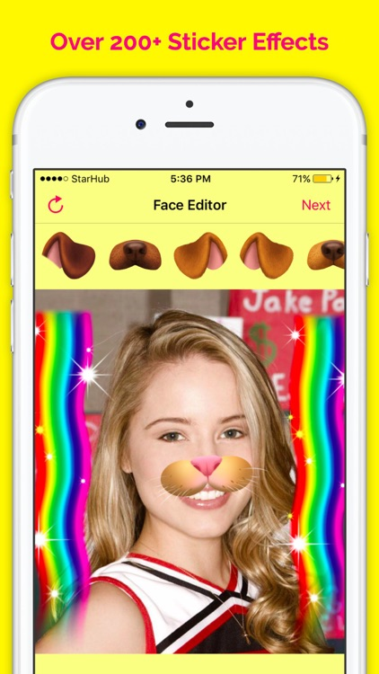 Funny Face Filters - Face Snow
