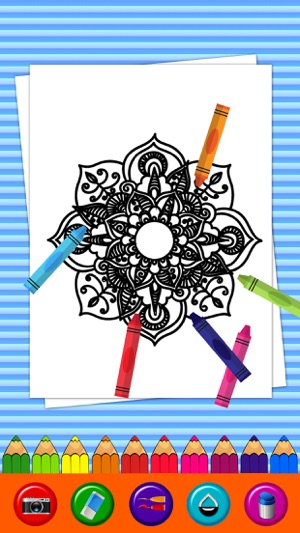 Mandala Coloring Pages Game Adult Book On The App Store