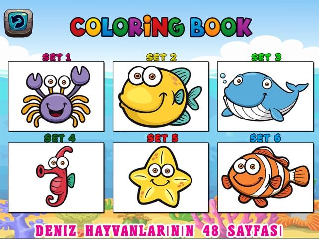 Deniz Hayvanlari Cocuk Boyama Sayfalari App Store Da