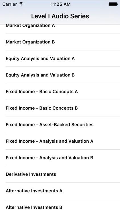 L1 CFA® Exam Audio Series screenshot-3