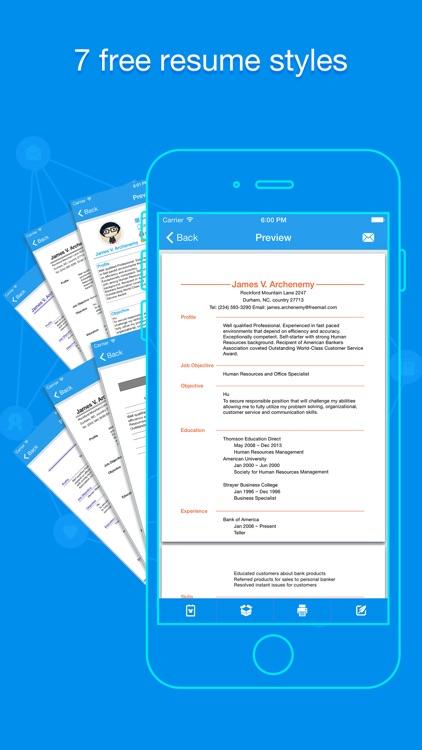 Quick Resume - Resumes Builder and Designer screenshot-3