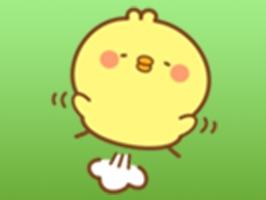 Mimi Little Baby Chicken English Sticker