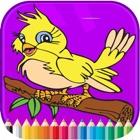 Vogel-Malbuch - Aktivitäten für Kinder icon