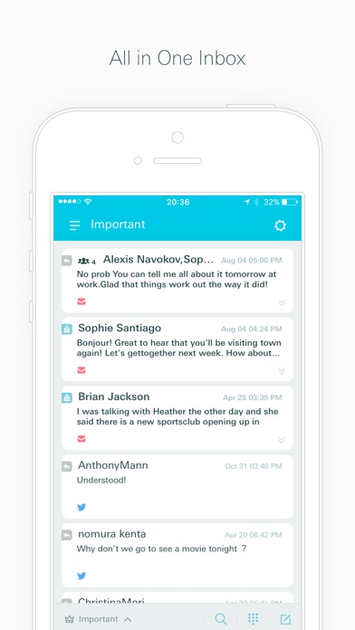 Swingmail -Email App for iCloud, Gmail, Twitter DM Screenshot