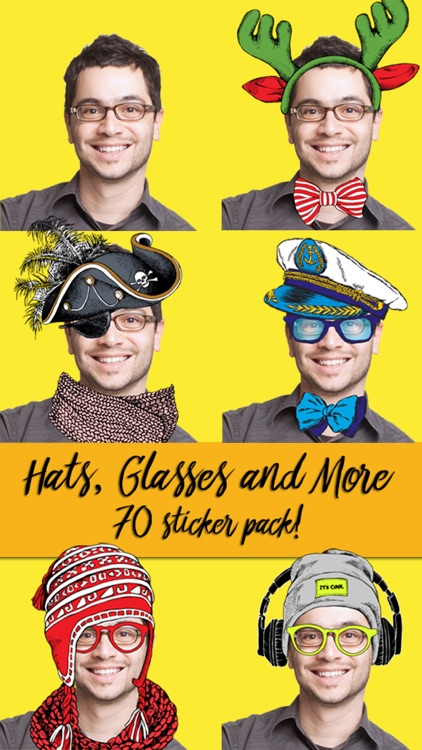 Hats Glasses and More Photobooth Sticker Pack