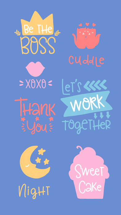 Smile - Sweet Everyday Saying Stickers screenshot three