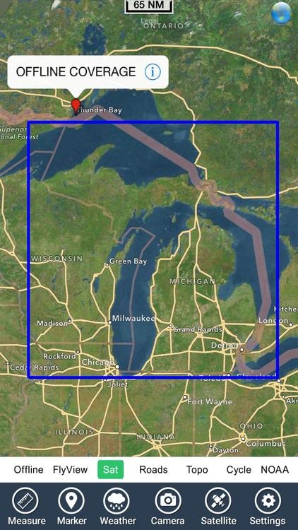 Michigan Lakes HD Fishing Maps screenshot-4
