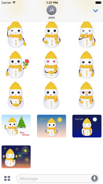 Little Snowman - Christmas Holiday Emoji