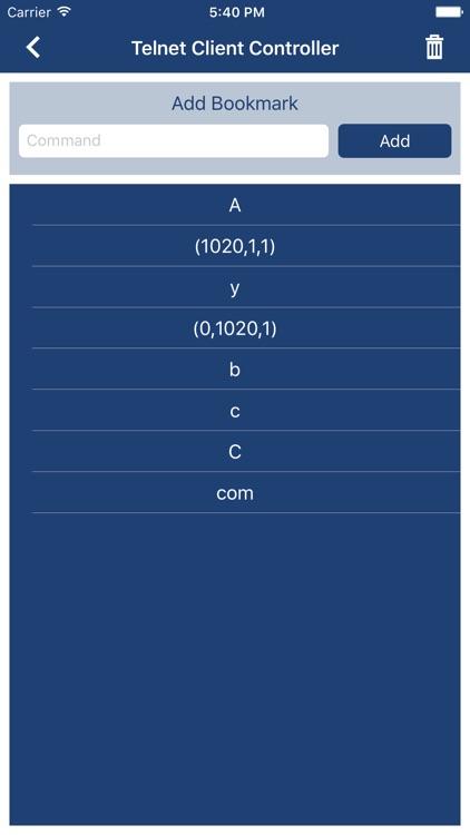 Telnet Client Controller screenshot-4