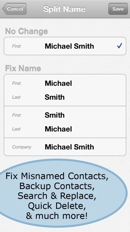 ContactClean Pro - Address Book Cleanup & Repair screenshot-3