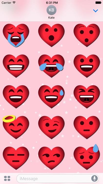 Love Emoji • 70 stickers for iMessage
