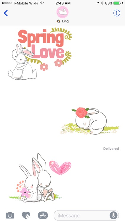 Honey Bunny - Cute Easter Bunny for Spring screenshot-3