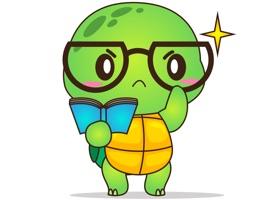 Pura the funny turtle 4 for iMessage Sticker