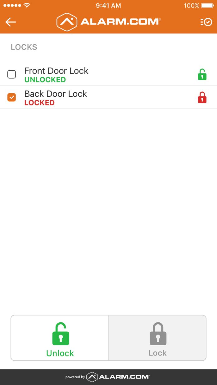Alarm.com Screenshot