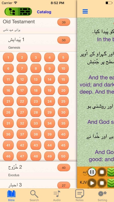Urdu-English Bilingual Audio Holy Bible Offline screenshot two