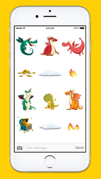 Cute and Funny Dragons and Treasure Sticker Pack