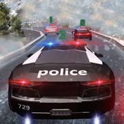 警察追逐山汽车3D:警察自动赛车司机