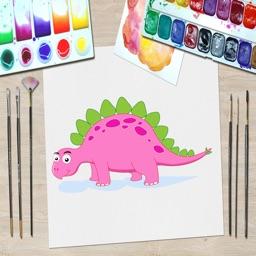 Dinosaur Kid Coloring Book