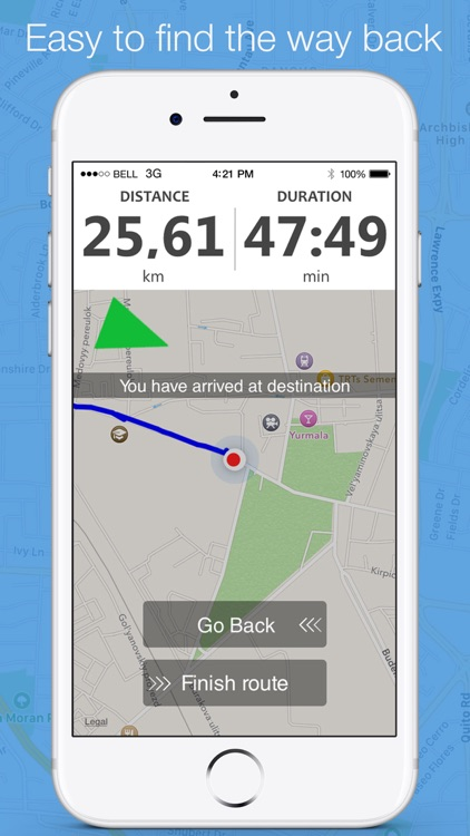 Running distance tracker - find the way back screenshot-3