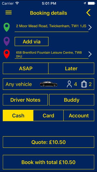 Parker Car Service screenshot three