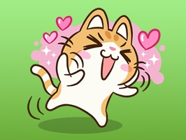Calypso The Cute Little Cat Stickers