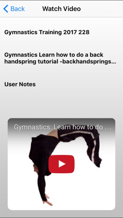 Gymnastics Training 2017