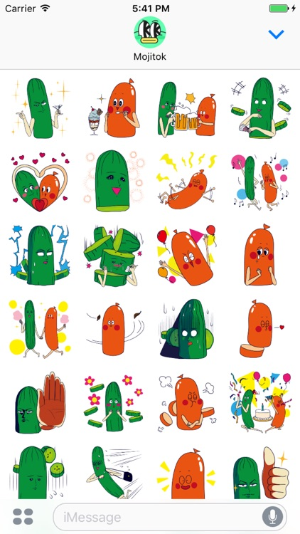 Cucumber&Sausage Couples Stickers