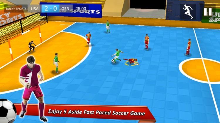 Indoor Soccer 17: Play Futsal football in arena 3D screenshot-4