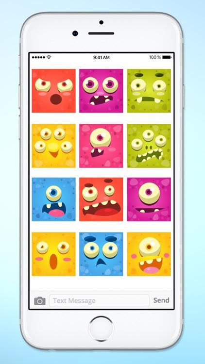 Monster Face Emoji Sticker Pack 2 screenshot-4