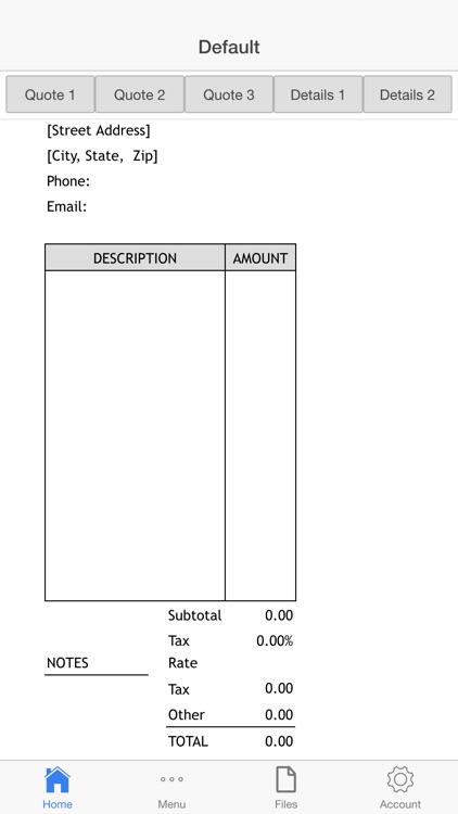 Business Estimate